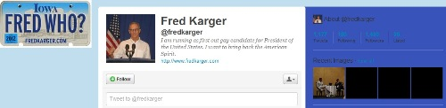 Fred Karger - Twitter page