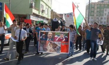 Residents of Duhok, Iraqi Kurdistan protesting against the Turkish bombardment of the Qandil Mountains. Photo DIHA.