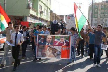 Residents of Duhok, Iraqi Kurdistan protesting against the Turkish bombardment of the Qandil Mountains. Photo DIHA.