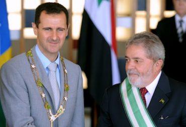 Former President of Brazil Lula da Silva and Bashar al Assad