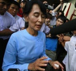 Burma as newly elected democracy leader Aung San Suu Kyi